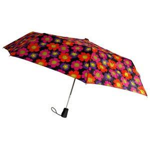 "Totes Umbrella Flower Auto Open Large Rain Sun 42"""